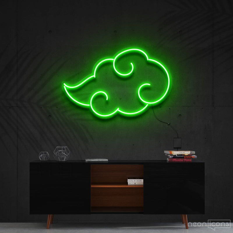 """Akatsuki"" - Naruto Neon Sign 60cm (2ft) / Green / Cut to Shape by Neon Icons"