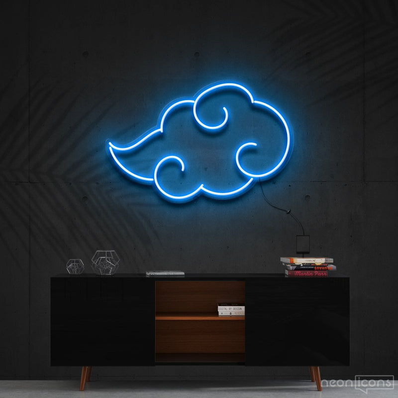 """Akatsuki"" - Naruto Neon Sign 60cm (2ft) / Ice Blue / Cut to Shape by Neon Icons"
