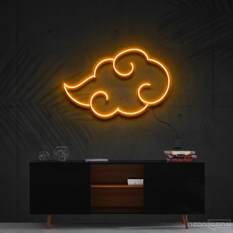 """Akatsuki"" - Naruto Neon Sign 60cm (2ft) / Orange / Cut to Shape by Neon Icons"