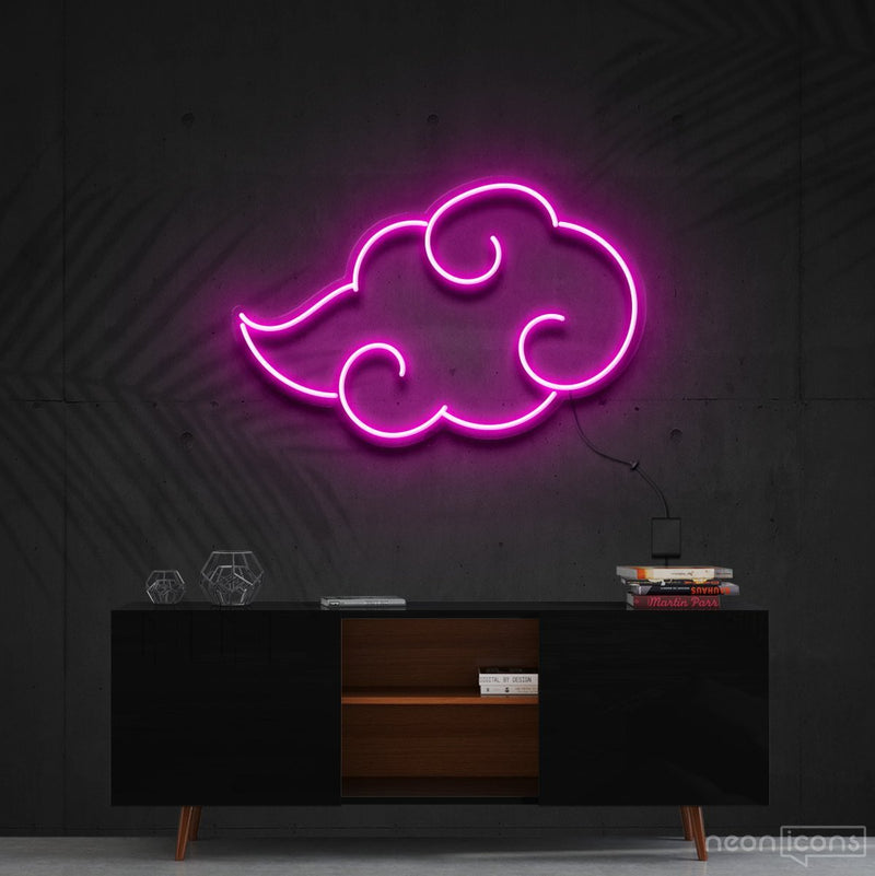 """Akatsuki"" - Naruto Neon Sign 60cm (2ft) / Pink / Cut to Shape by Neon Icons"