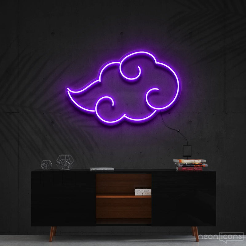 """Akatsuki"" - Naruto Neon Sign 60cm (2ft) / Purple / Cut to Shape by Neon Icons"