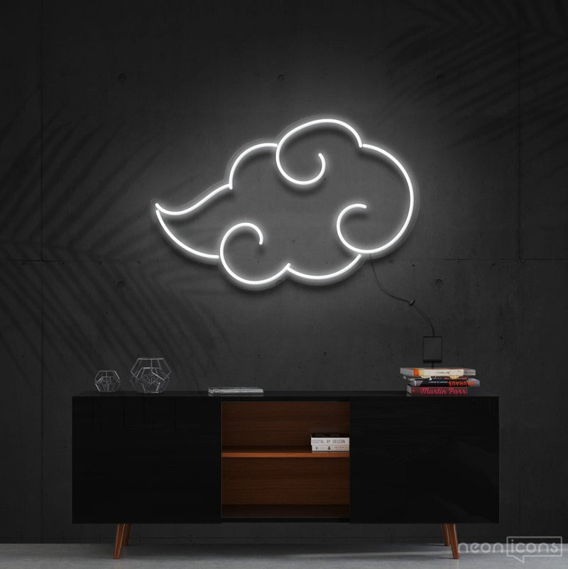 """Akatsuki"" - Naruto Neon Sign 60cm (2ft) / White / Cut to Shape by Neon Icons"