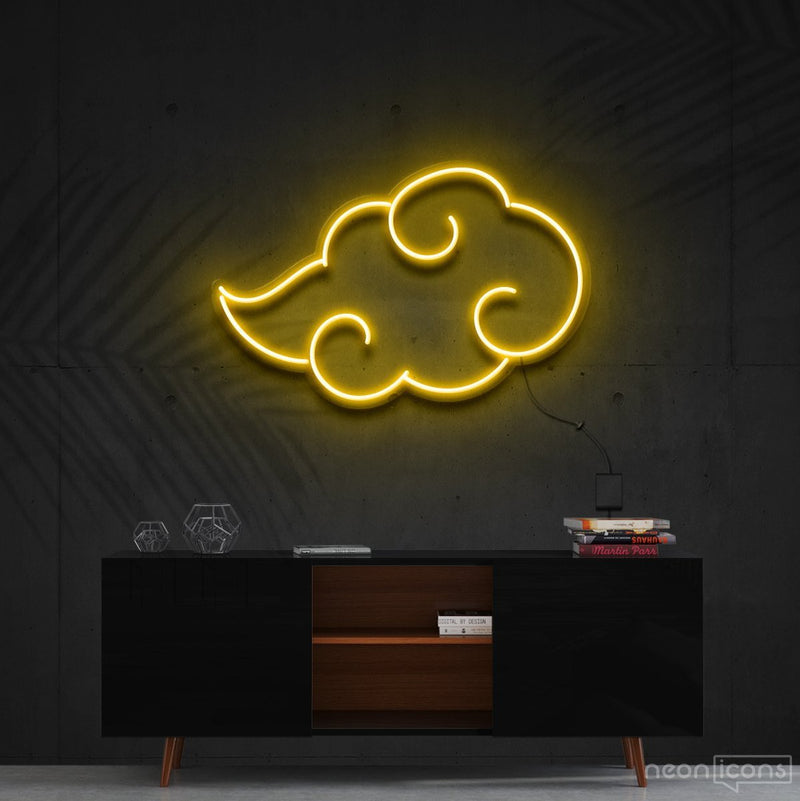 """Akatsuki"" - Naruto Neon Sign 60cm (2ft) / Yellow / Cut to Shape by Neon Icons"