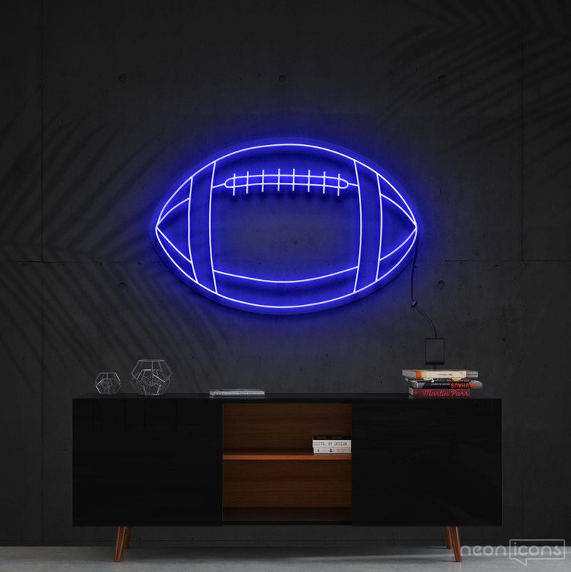 """American Football"" Neon Sign 60cm (2ft) / Blue / Cut to Shape by Neon Icons"