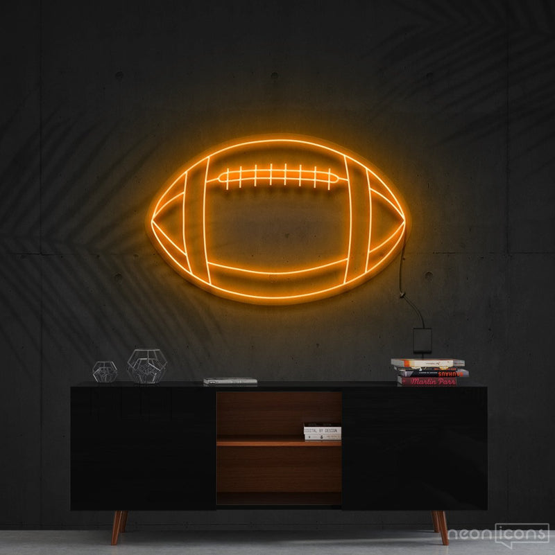 """American Football"" Neon Sign 60cm (2ft) / Orange / Cut to Shape by Neon Icons"