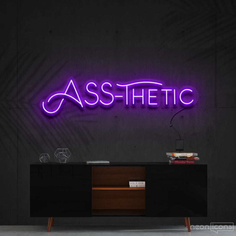 """Ass-Thetic"" Neon Sign 60cm (2ft) / Purple / Cut to Shape by Neon Icons"