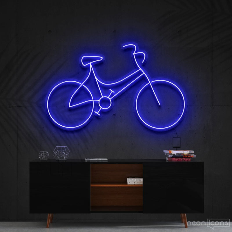 """Bicycle"" Neon Sign 60cm (2ft) / Blue / Cut to Shape by Neon Icons"