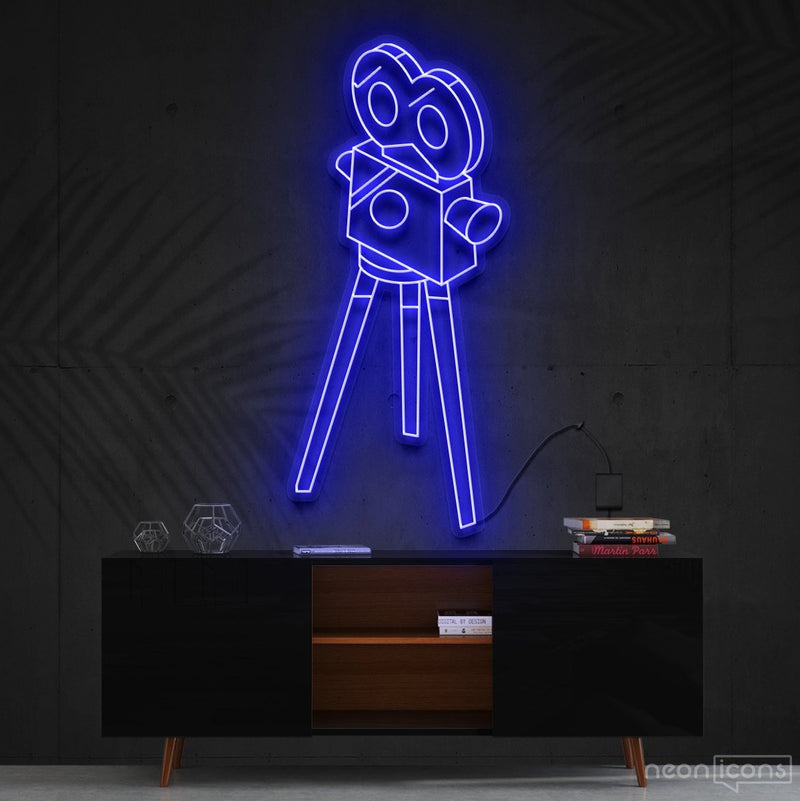 """Camera Roll"" Neon Sign 60cm (2ft) / Blue / Cut to Shape by Neon Icons"