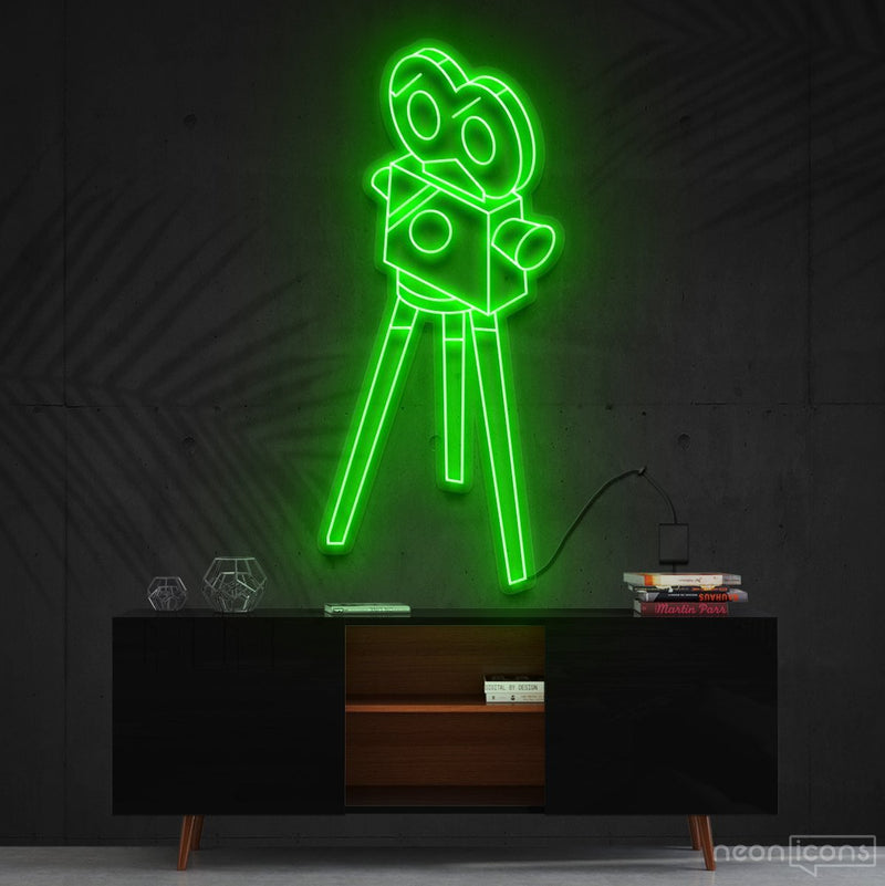 """Camera Roll"" Neon Sign 60cm (2ft) / Green / Cut to Shape by Neon Icons"