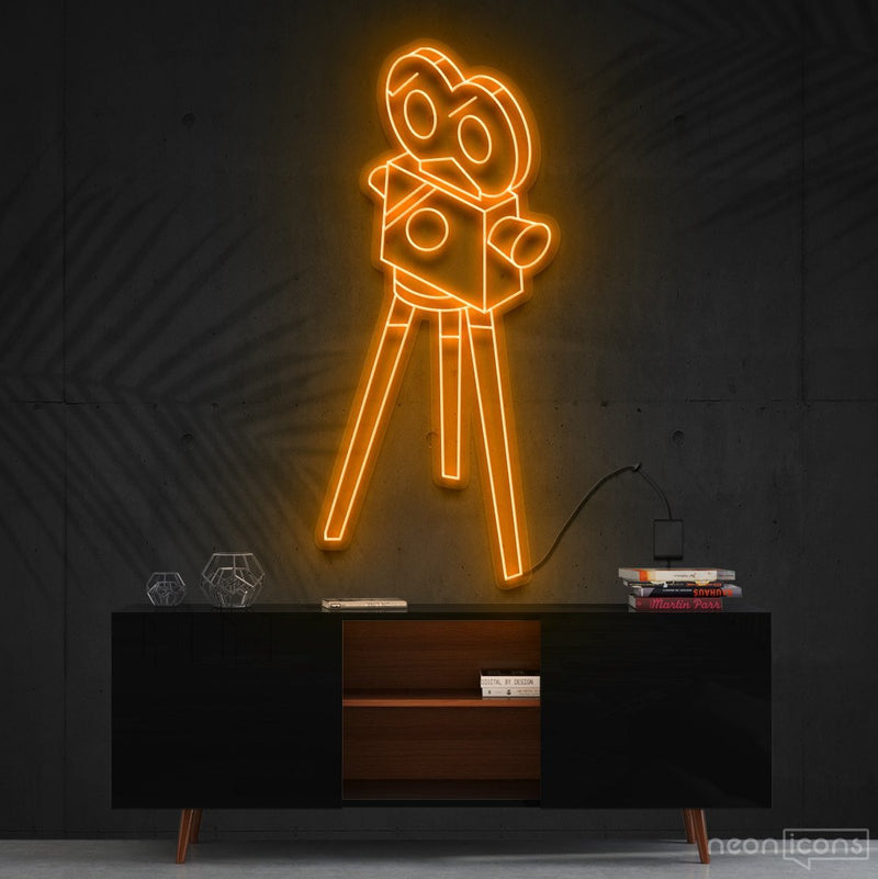 """Camera Roll"" Neon Sign 60cm (2ft) / Orange / Cut to Shape by Neon Icons"