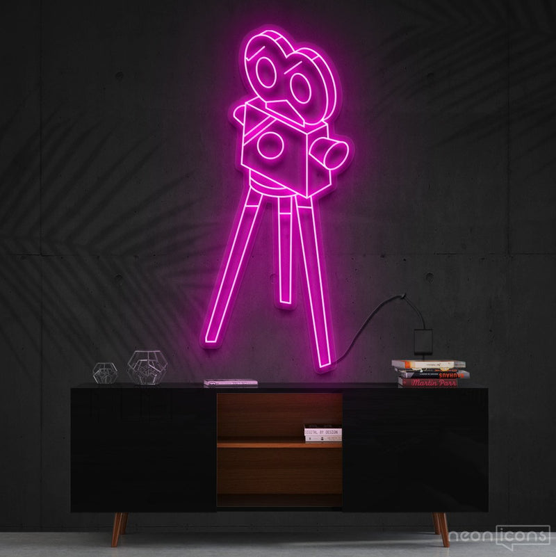 """Camera Roll"" Neon Sign 60cm (2ft) / Pink / Cut to Shape by Neon Icons"
