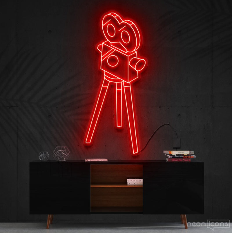 """Camera Roll"" Neon Sign 60cm (2ft) / Red / Cut to Shape by Neon Icons"