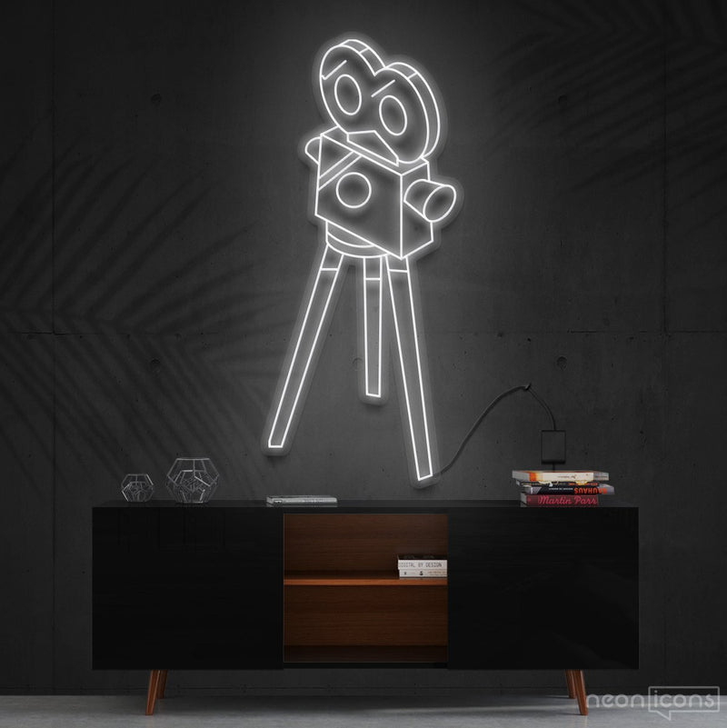 """Camera Roll"" Neon Sign 60cm (2ft) / White / Cut to Shape by Neon Icons"