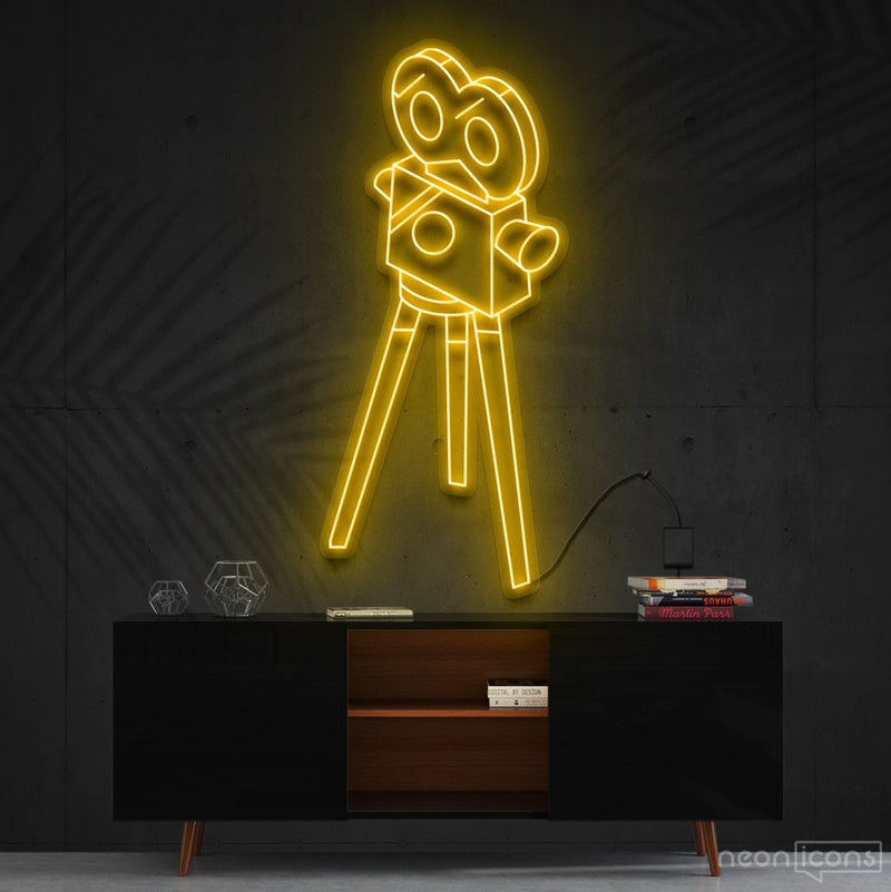 """Camera Roll"" Neon Sign 60cm (2ft) / Yellow / Cut to Shape by Neon Icons"