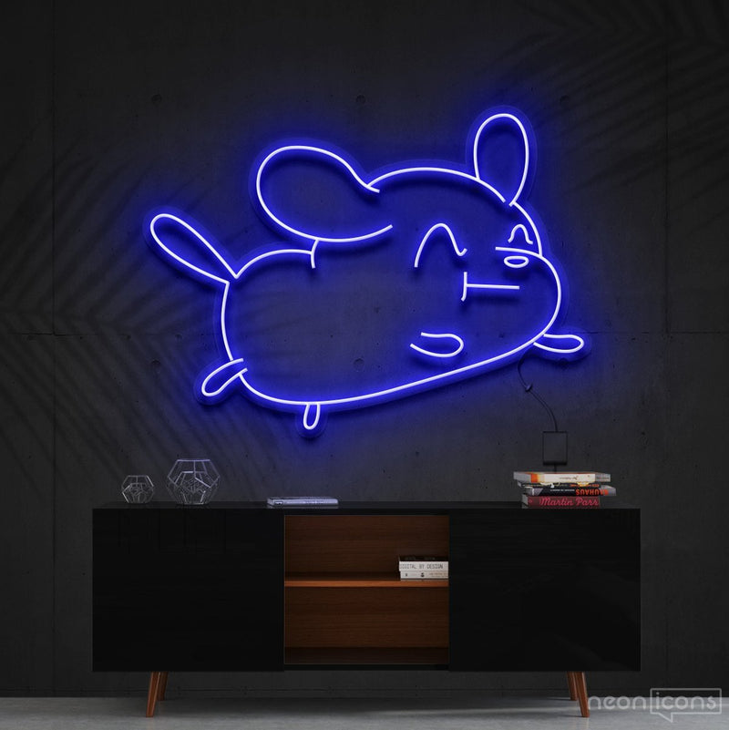 """Cartoon Puppy"" Neon Sign 60cm (2ft) / Blue / Cut to Shape by Neon Icons"