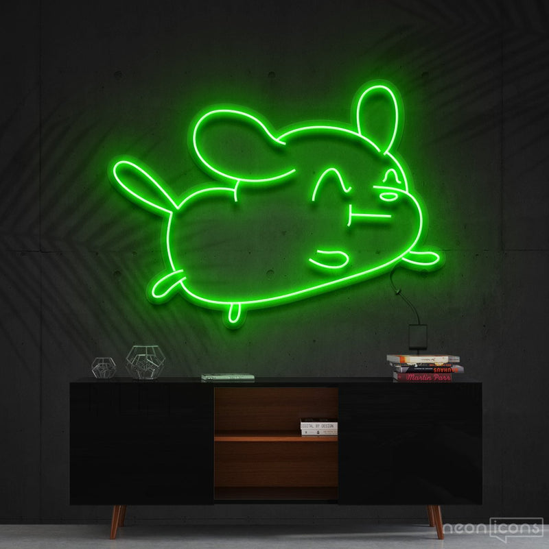 """Cartoon Puppy"" Neon Sign 60cm (2ft) / Green / Cut to Shape by Neon Icons"