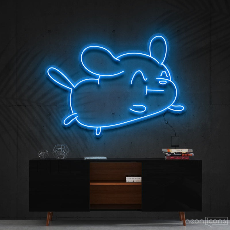 """Cartoon Puppy"" Neon Sign 60cm (2ft) / Ice Blue / Cut to Shape by Neon Icons"