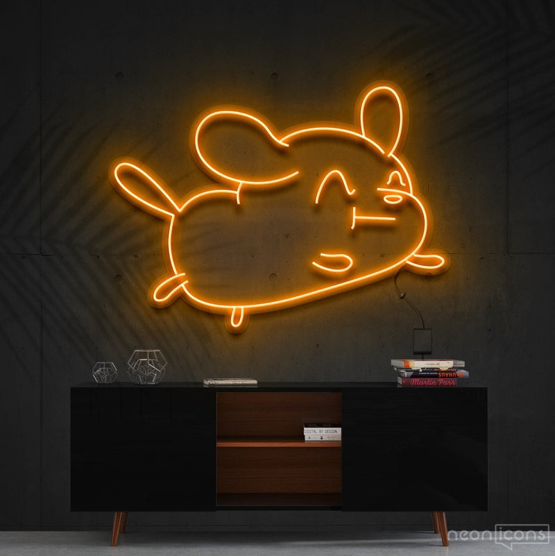 """Cartoon Puppy"" Neon Sign 60cm (2ft) / Orange / Cut to Shape by Neon Icons"