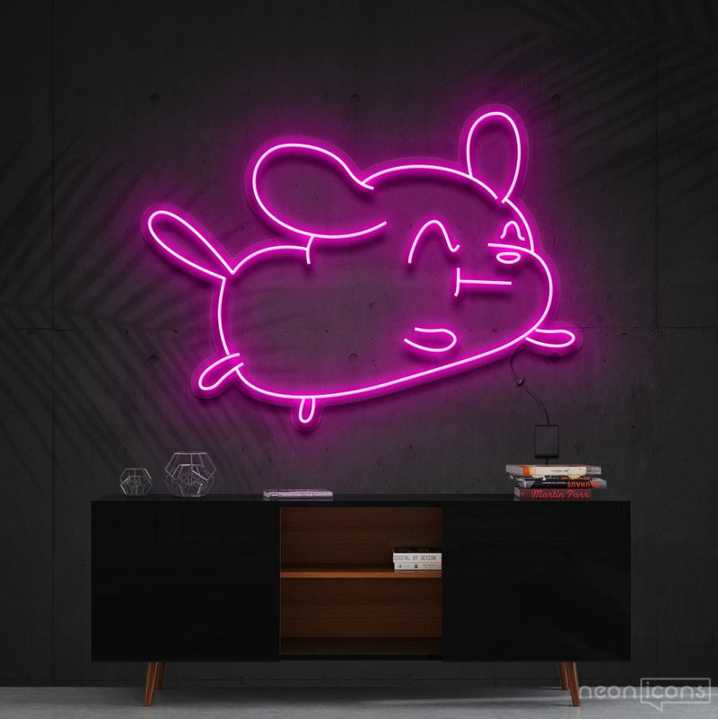 """Cartoon Puppy"" Neon Sign 60cm (2ft) / Pink / Cut to Shape by Neon Icons"