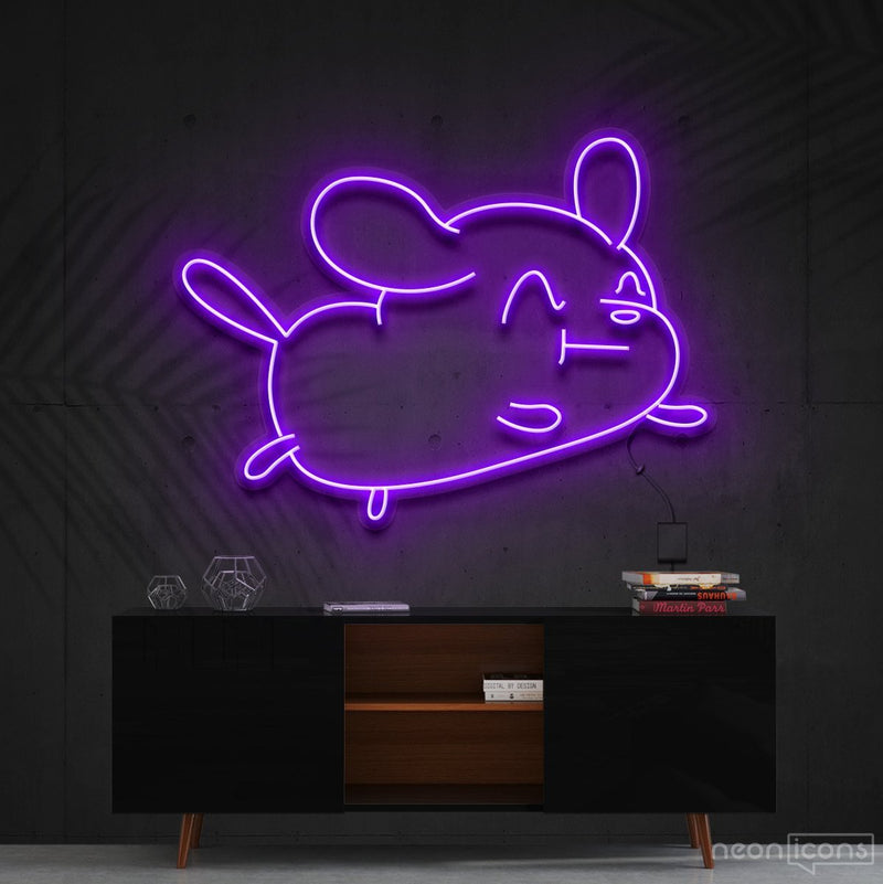 """Cartoon Puppy"" Neon Sign 60cm (2ft) / Purple / Cut to Shape by Neon Icons"