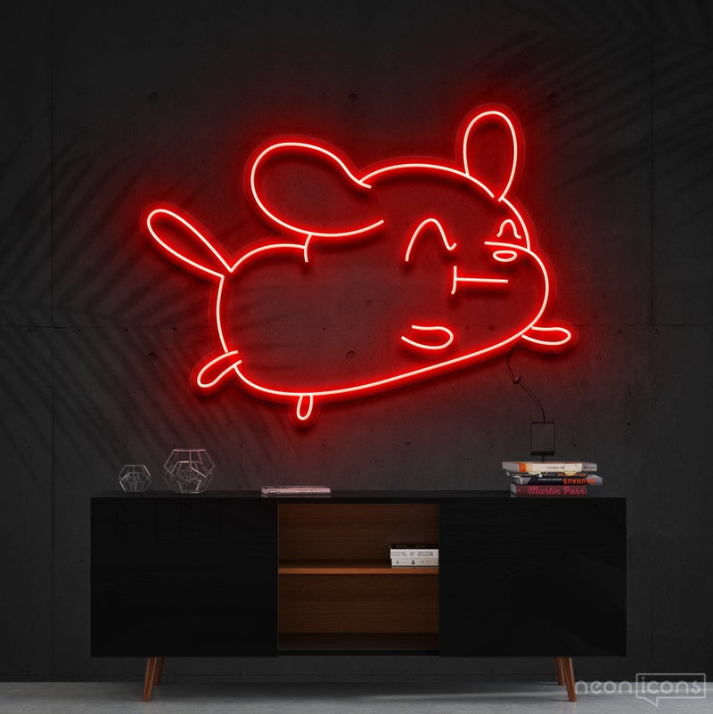 """Cartoon Puppy"" Neon Sign 60cm (2ft) / Red / Cut to Shape by Neon Icons"