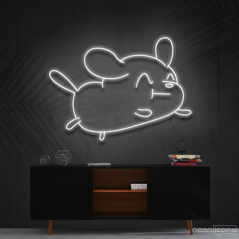 """Cartoon Puppy"" Neon Sign 60cm (2ft) / White / Cut to Shape by Neon Icons"