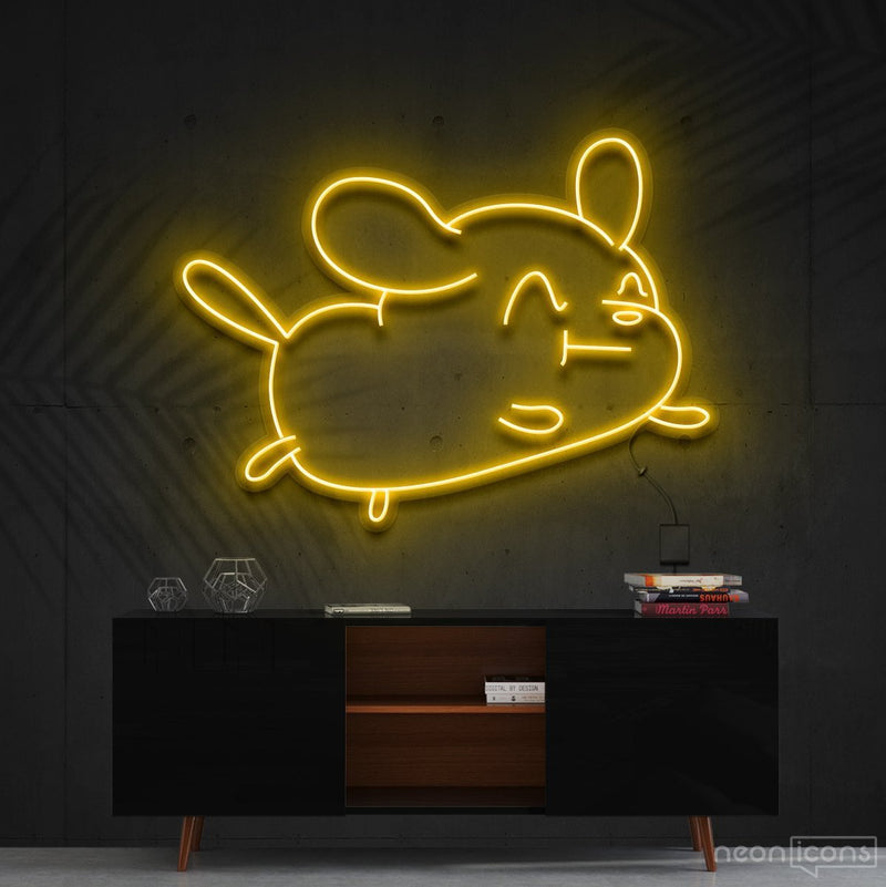"""Cartoon Puppy"" Neon Sign 60cm (2ft) / Yellow / Cut to Shape by Neon Icons"
