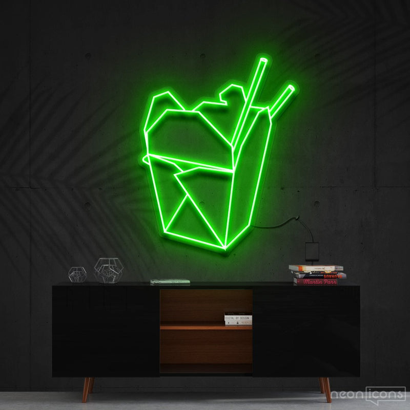 """Chinese Takeout"" Neon Sign 60cm (2ft) / Green / Cut to Shape by Neon Icons"