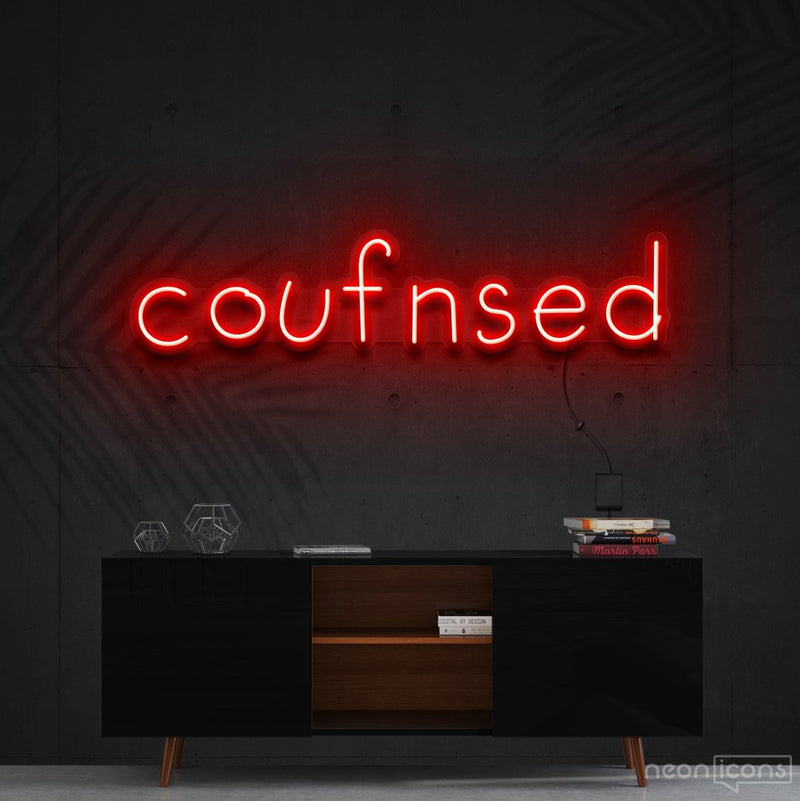 """Confused"" Neon Sign 60cm (2ft) / Red / Cut to Shape by Neon Icons"