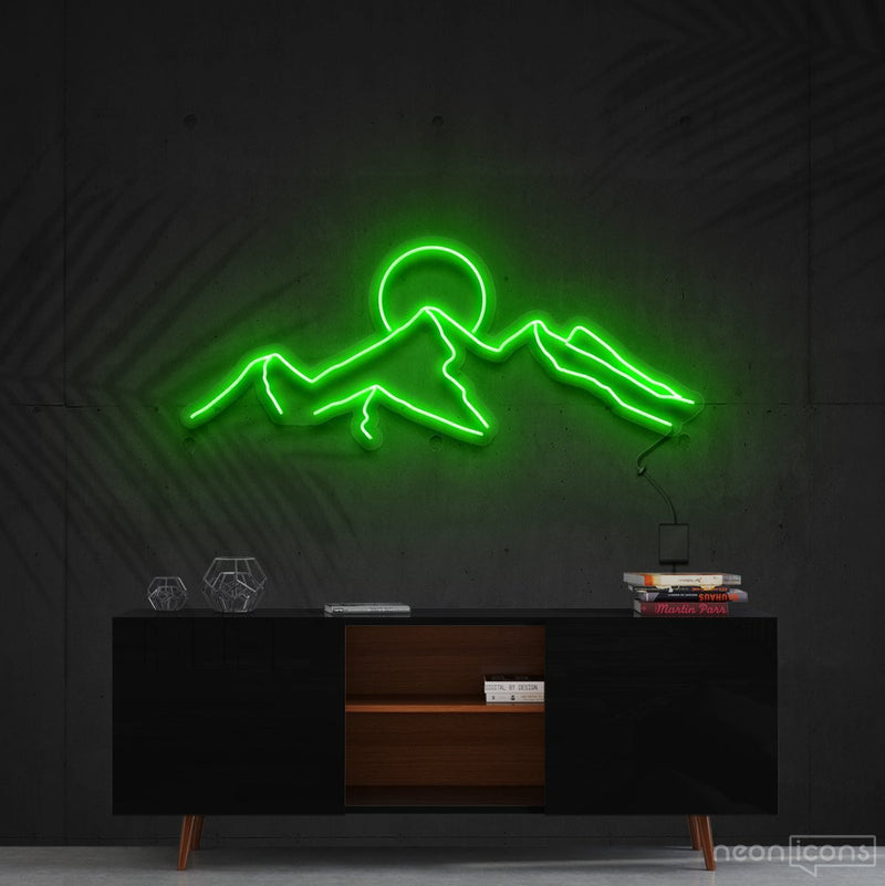 """Desert Sunset"" Neon Sign 60cm (2ft) / Green / Cut to Shape by Neon Icons"