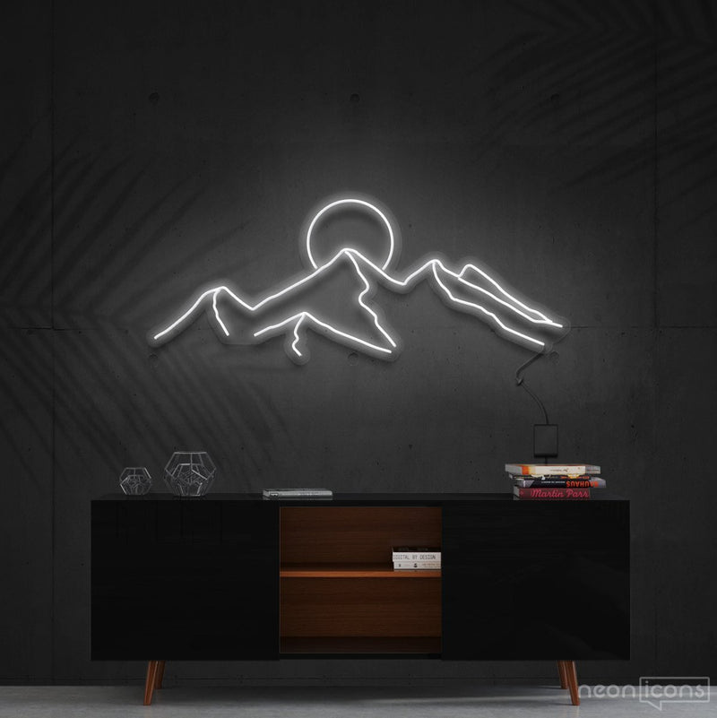 """Desert Sunset"" Neon Sign 60cm (2ft) / White / Cut to Shape by Neon Icons"