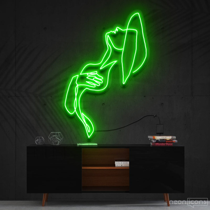"""Feeling Thyself"" Neon Sign 90cm (3ft) / Green / Cut to Shape by Neon Icons"