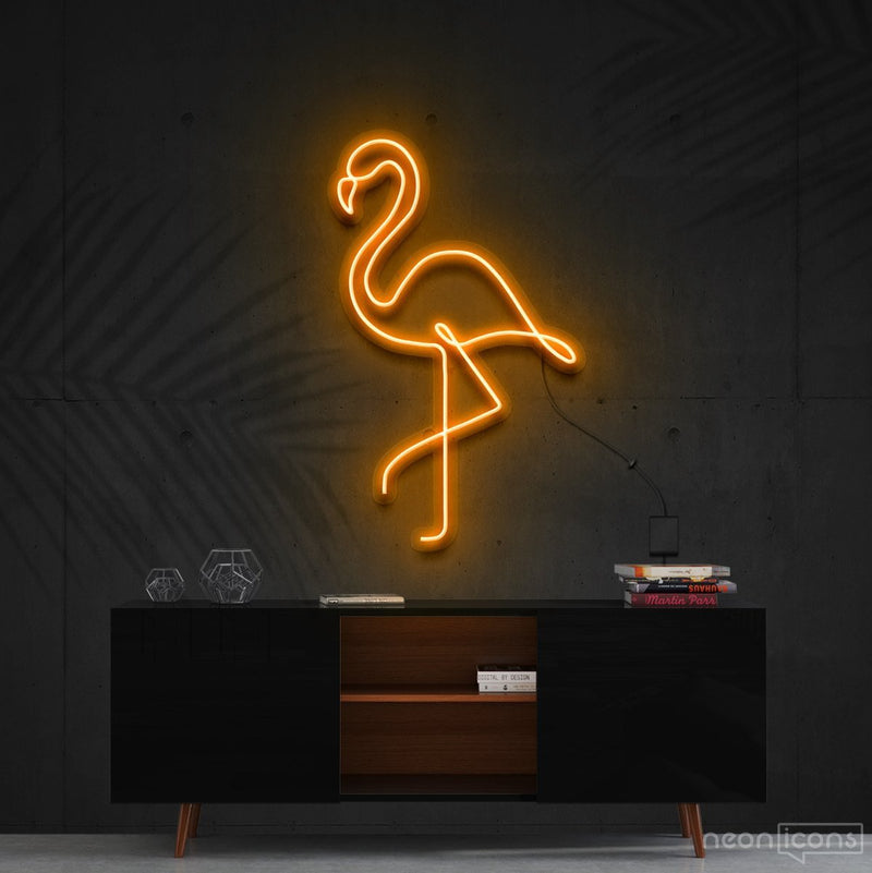 """Flamingo"" Neon Sign 60cm (2ft) / Orange / Cut to Shape by Neon Icons"