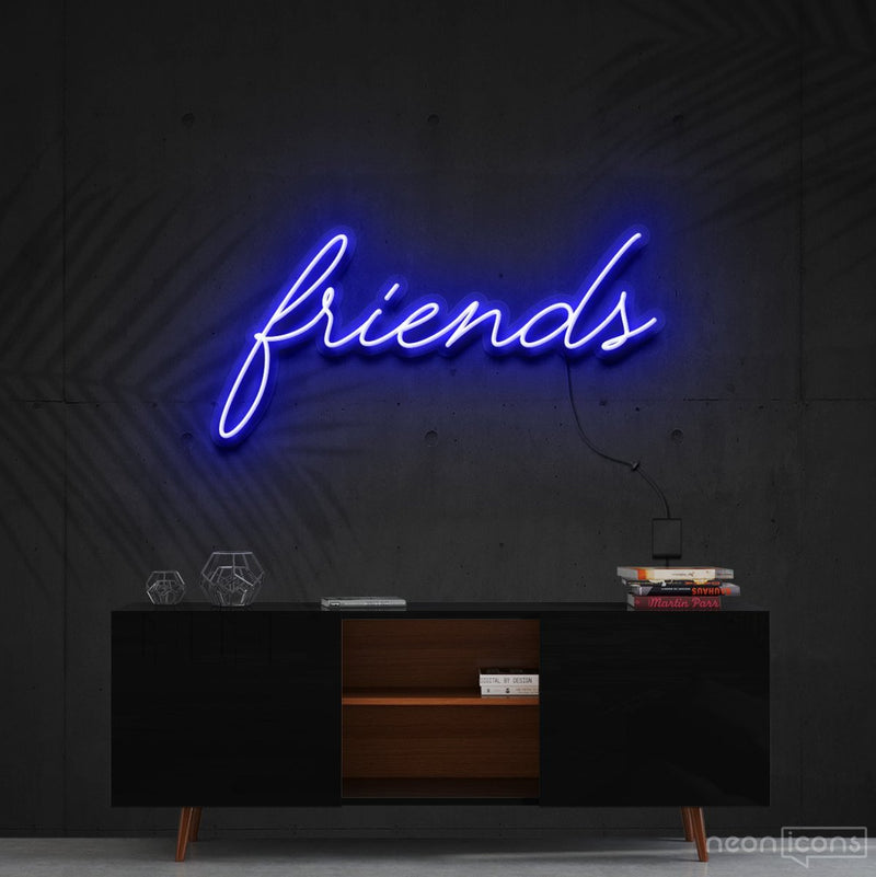 """Friends"" Neon Sign 60cm (2ft) / Blue / Cut to Shape by Neon Icons"