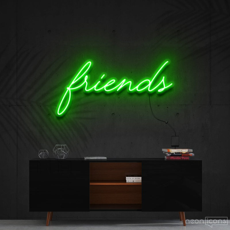 """Friends"" Neon Sign 60cm (2ft) / Green / Cut to Shape by Neon Icons"