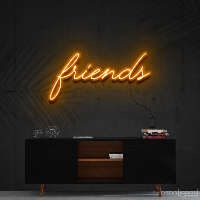 """Friends"" Neon Sign 60cm (2ft) / Orange / Cut to Shape by Neon Icons"