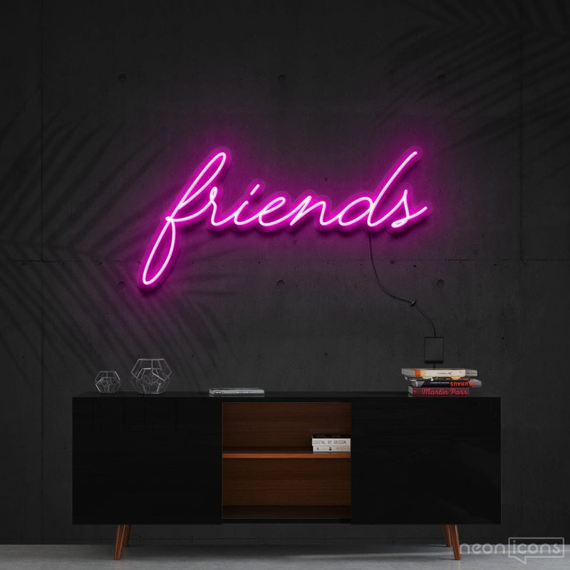 """Friends"" Neon Sign 60cm (2ft) / Pink / Cut to Shape by Neon Icons"