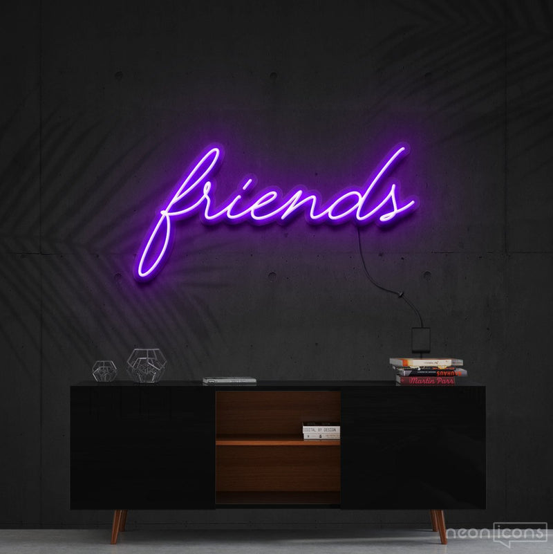 """Friends"" Neon Sign 60cm (2ft) / Purple / Cut to Shape by Neon Icons"