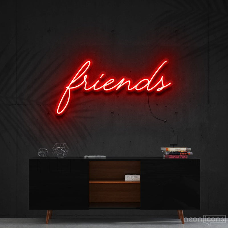 """Friends"" Neon Sign 60cm (2ft) / Red / Cut to Shape by Neon Icons"