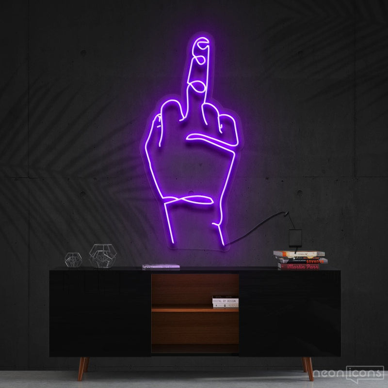 """Go F**k Yourself"" Neon Sign 60cm (2ft) / Purple / Cut to Shape by Neon Icons"