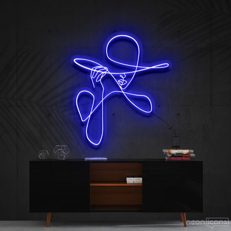 """Haute Couture"" Neon Sign 90cm (3ft) / Blue / Cut to Shape by Neon Icons"