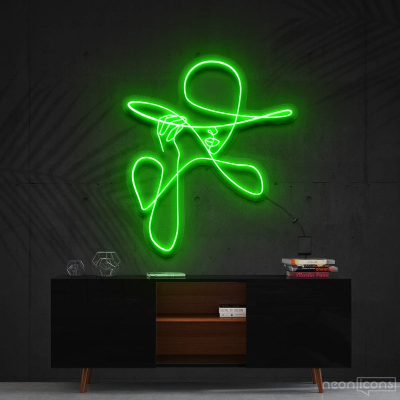 """Haute Couture"" Neon Sign 90cm (3ft) / Green / Cut to Shape by Neon Icons"
