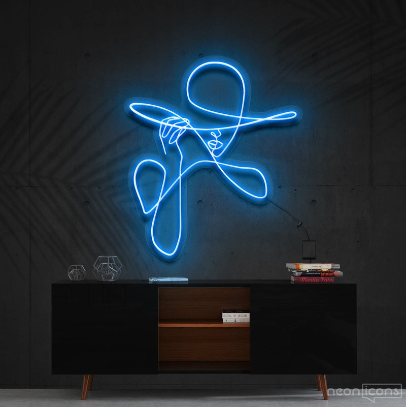 """Haute Couture"" Neon Sign 90cm (3ft) / Ice Blue / Cut to Shape by Neon Icons"
