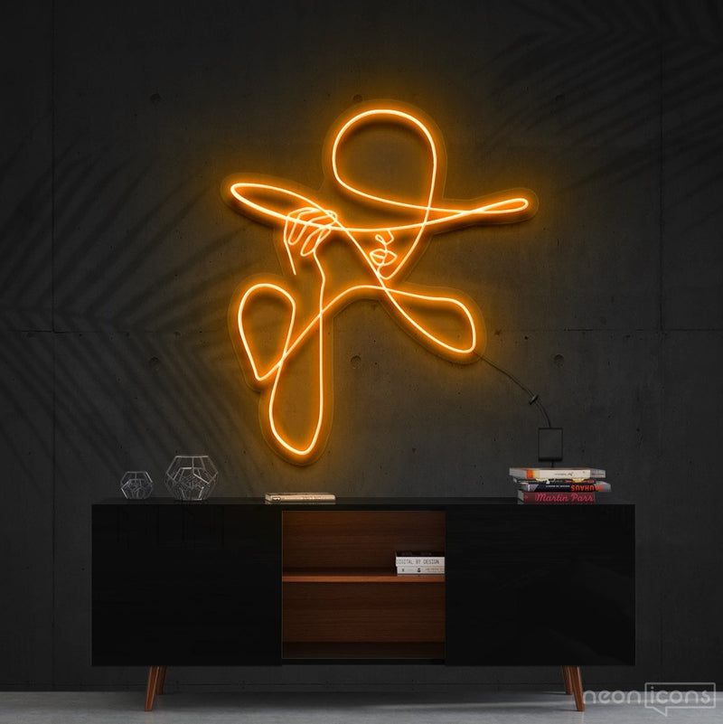 """Haute Couture"" Neon Sign 90cm (3ft) / Orange / Cut to Shape by Neon Icons"