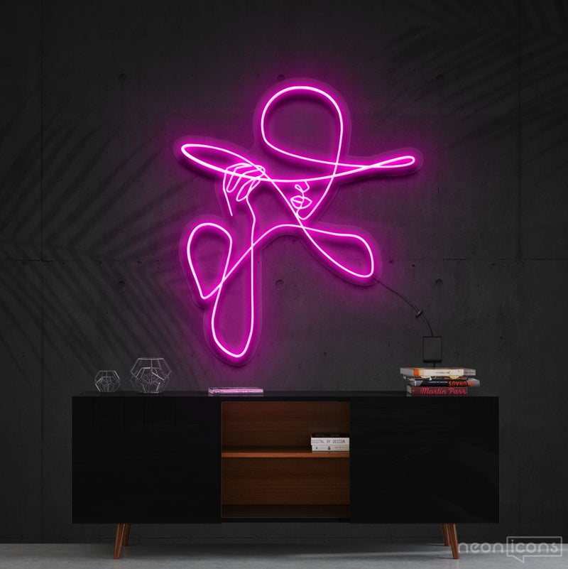 """Haute Couture"" Neon Sign 90cm (3ft) / Pink / Cut to Shape by Neon Icons"