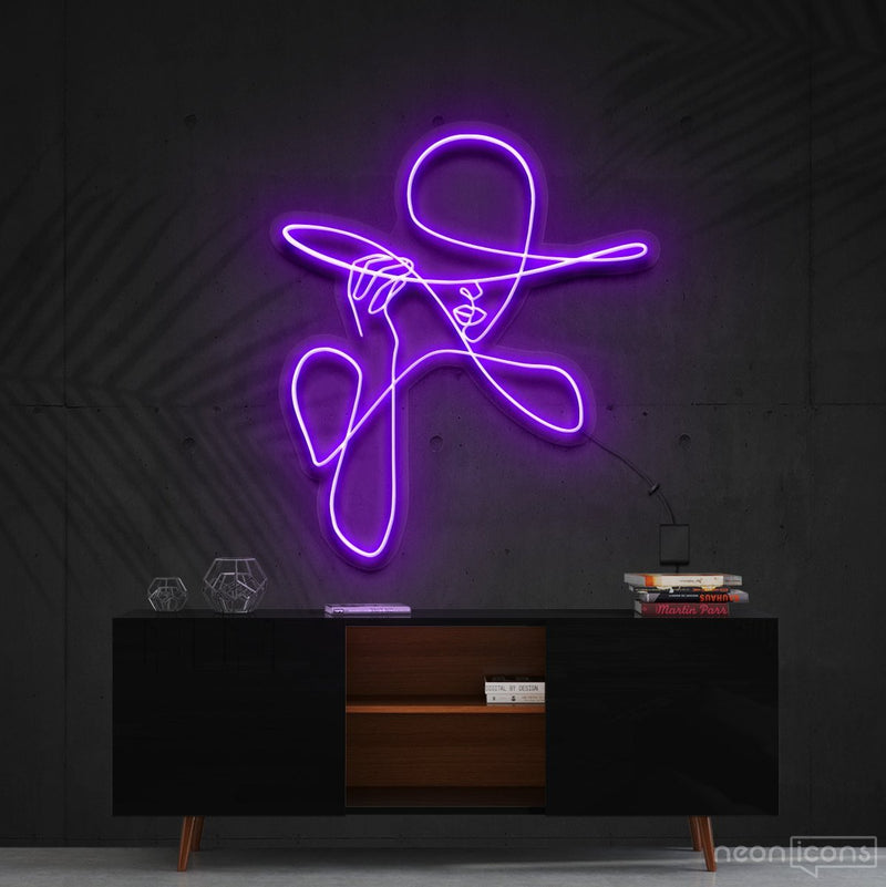 """Haute Couture"" Neon Sign 90cm (3ft) / Purple / Cut to Shape by Neon Icons"
