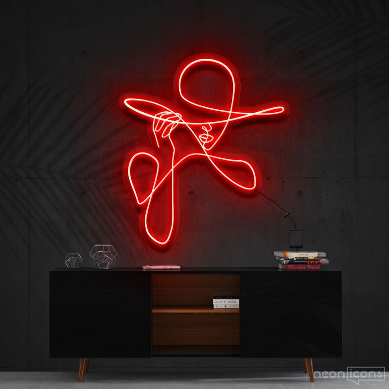 """Haute Couture"" Neon Sign 90cm (3ft) / Red / Cut to Shape by Neon Icons"