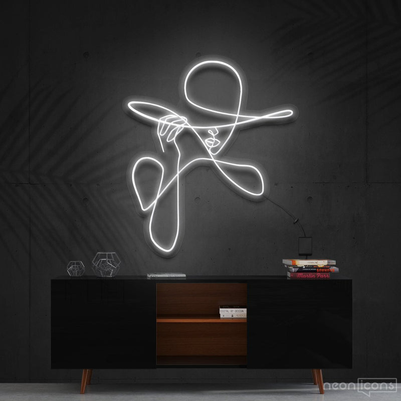 """Haute Couture"" Neon Sign 90cm (3ft) / White / Cut to Shape by Neon Icons"