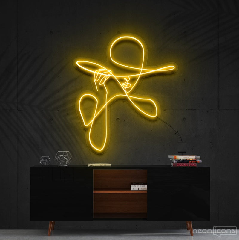 """Haute Couture"" Neon Sign 90cm (3ft) / Yellow / Cut to Shape by Neon Icons"
