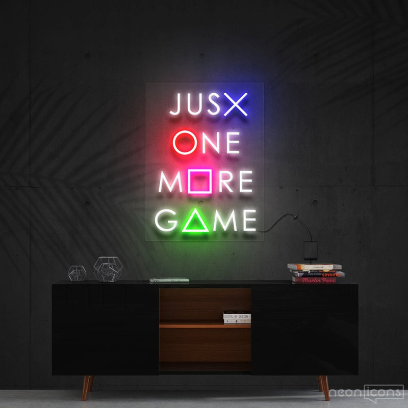 """Just One More Game"" Neon Sign 60cm (2ft) / Cut to Shape by Neon Icons"